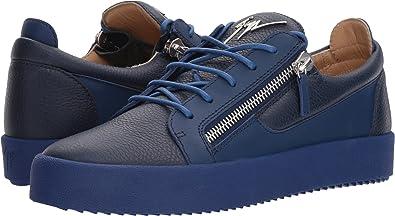 759c8eb2a2dbc Giuseppe Zanotti Men's May London Tone-On-Tone Low Top Sneaker Bluette 40 M