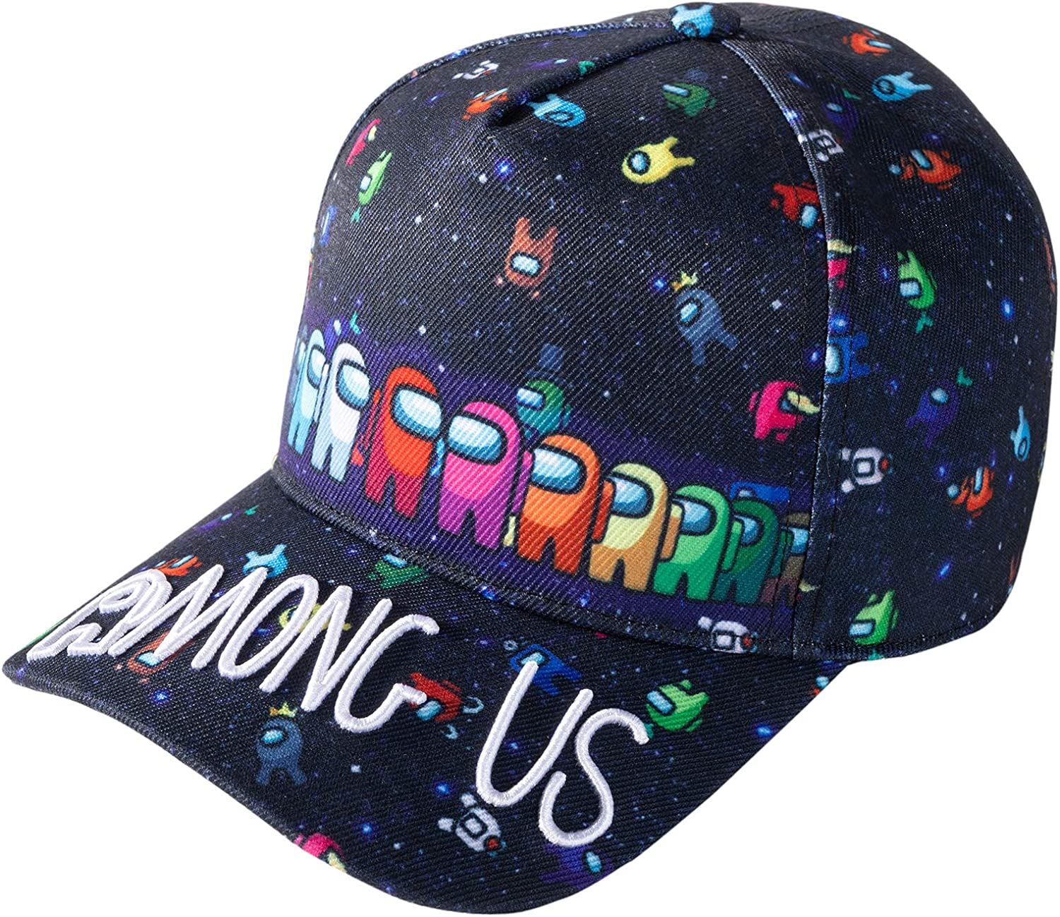 A mong USS Kids Baseball Cap, Adjustable Outdoor Sports Hat, Black Unisex Printed Embroidery Game Peripheral Cap (Cap-1): Clothing