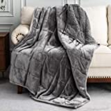 Uttermara Sherpa Fleece Weighted Blanket 15 lbs for Adult, Unicolor Ultra-Soft Fleece and Sherpa, Dual Sided Cozy Plush Blank