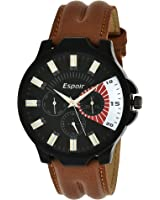 Espoir Decker Working Chronograph Analogue Black Dial Men's Watch - Vincent0507