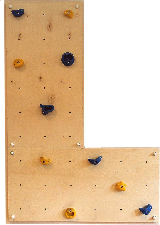 Gartenpirat pared escalada interiores 1,44 m²-Set IW2 - 2 Paneles 10 Presas