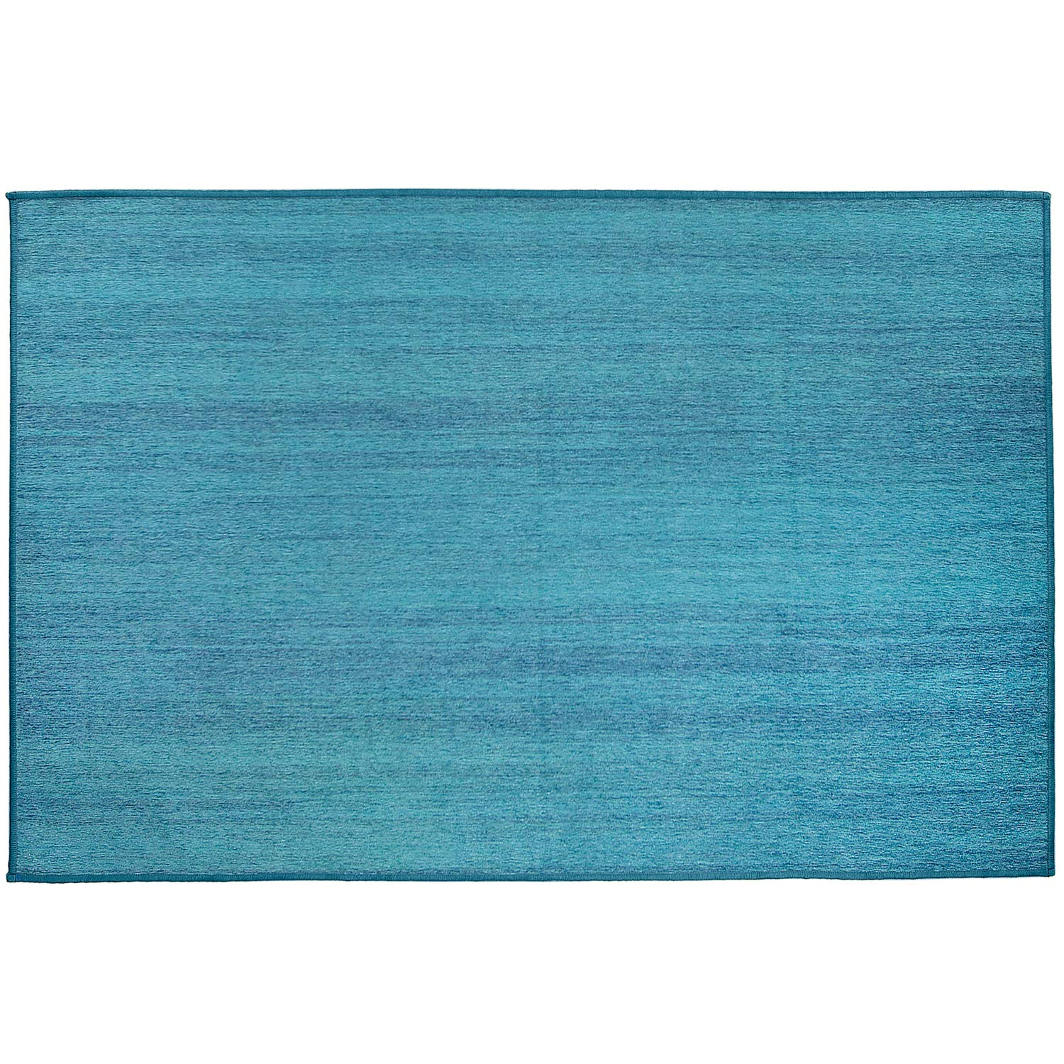 36x60 Cover and Pad Accent Rug 2-Piece Set RUGGABLE 158664 Solid Textured Ocean Blue Washable Indoor//Outdoor Stain Resistant 3x5