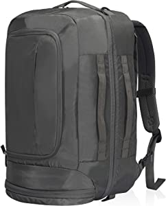 Travel Max Carry On Travel Backpack 40L Anti-theft Luggage Backpack 17 Inch Laptop Bag with Shoes Compartment Combination Lock (Grey)