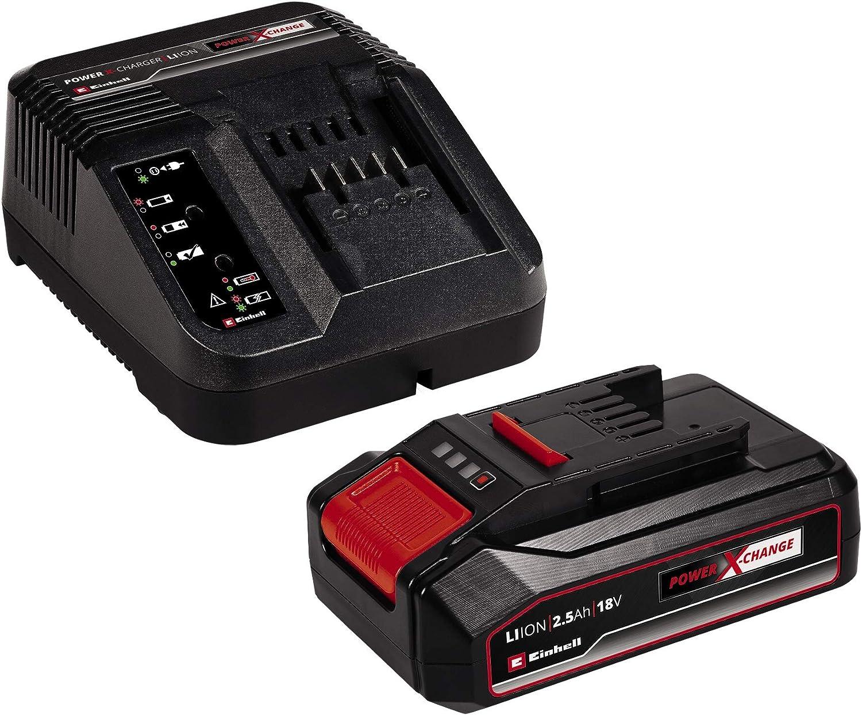 18 V sistema de gesti/ón de la bater/ía Einhell TE-AP 18 Li Sierra de sable inal/ámbrica Kit para principiantes con Bater/ía 2,5 Ah carcasa con soportes de goma Cargador Power X-Change
