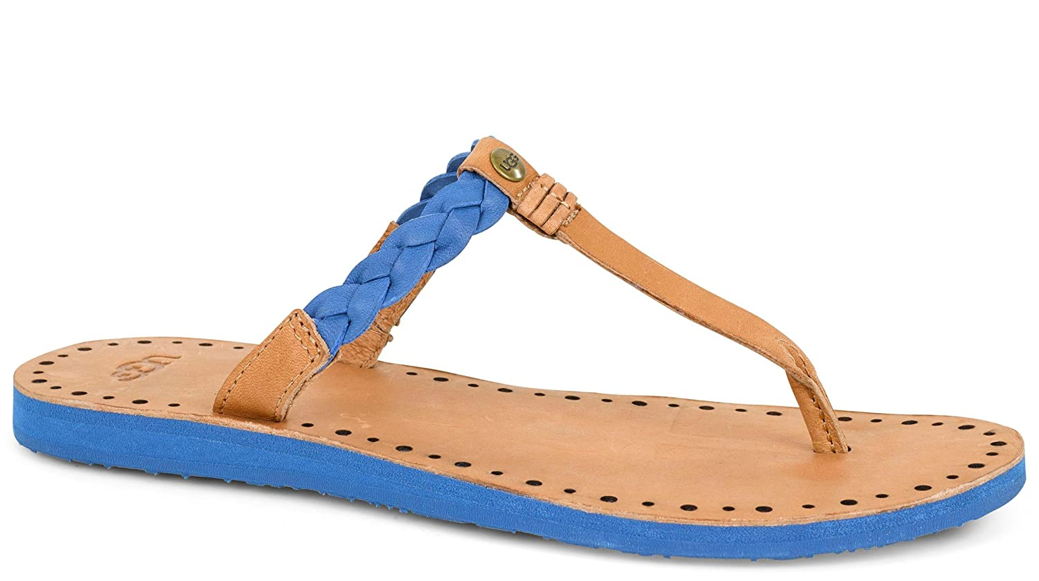 Womens Sandals UGG Bria Marine Blue Leather