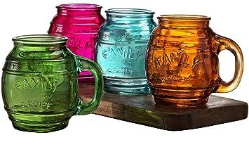 circleware family glass drinking glasses set 26 ounce set of 4 - Mason Jar Drinking Glasses