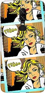 Stylizedd OnePlus 6 Slim Snap Basic Case Cover Matte Finish - Meen (Comic Strip)