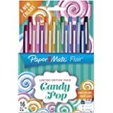 Paper Mate Flair Felt Tip Pens, Assorted Colors, 16 Count (16-Count (Candy Pop))