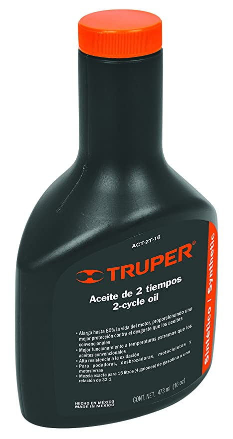 TRUPER ACT-2T-16 Two-Stroke Synthetic Engine Oil, 16 oz ...