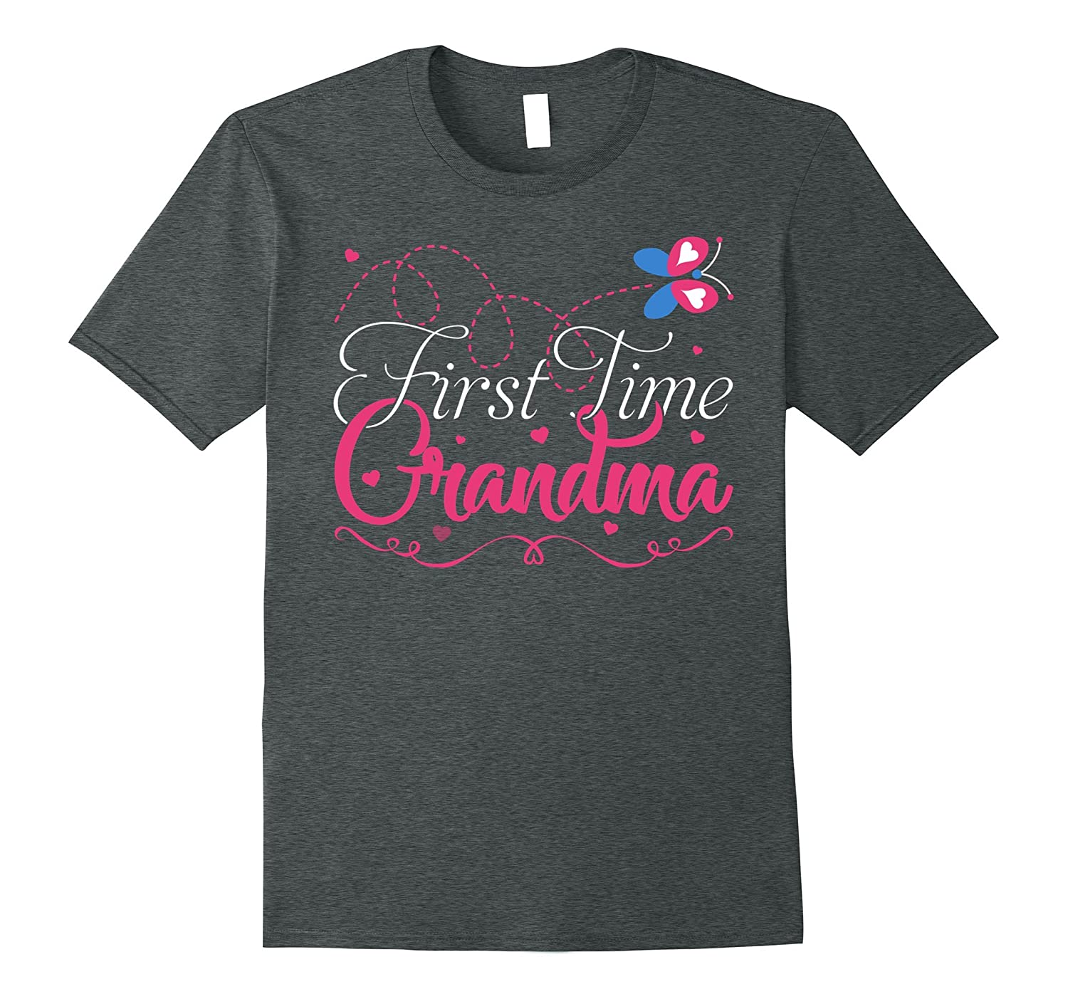 1st Time Grandma T-shirt New Grandmother Gift For Her-Vaci