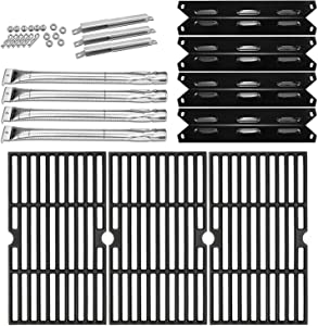 Hisencn Burners, Heat Plates, Grates Replacement Parts for Kenmore 146.23678310 146.16132110 146.16153110 146.20164510 146.23679310 146.23766310 146.23681310 PG-40612SOL 40400004 61200203 40800023