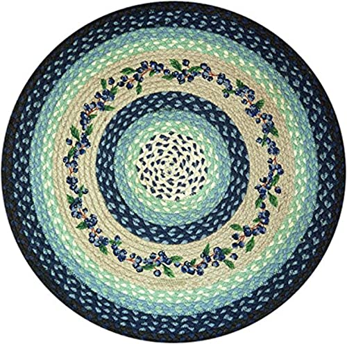 Earth Rugs Round Rug, 27 , Blueberry Cr me