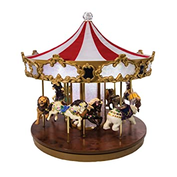 Amazon.com: Mr. Christmas Shimmering Grand Carousel Music Box with ...
