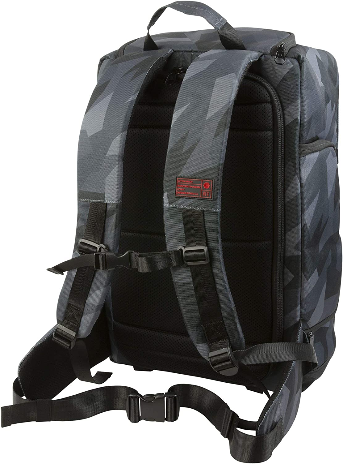 Tripod Straps Glacier Camo with Back Loading and Adjustable Interior Dividers HEX Cinema DSLR Backpack