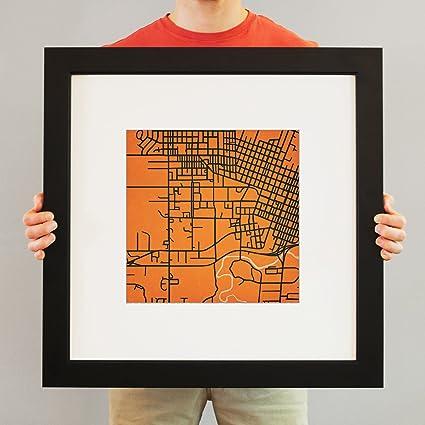 Amazon.com: Oregon State University Campus Map Art, 23 ...
