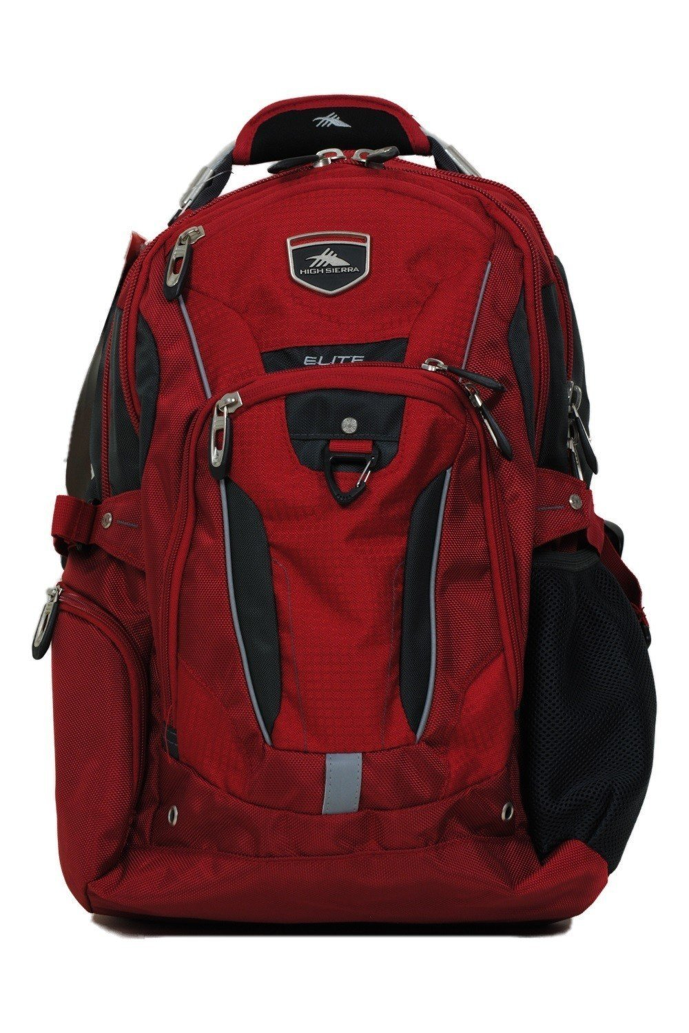 High Sierra Business Elite Backpack Red Fits 17'' Laptop with Tablet Storage & Suspended Back Panel