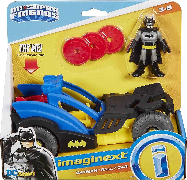 IMAGINEXT DC Super Friends Batman Rally Voiture GKJ25 Entièrement neuf dans sa boîte *