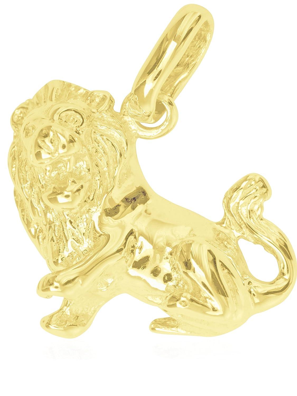 MyGold Sternzeichen Anhänger (Ohne Kette) Gelbgold 375/585 / 750 Gold (9/14 / 18 Karat) Massiv 14mm x 14mm Klein Goldanhänger Kettenanhänger Geschenk Weihnachtsgeschenk Majestico MOD-06006 A-06006-G401-Fis