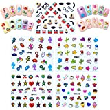 ALLYDREW Funky Monsters Funky Patterns Nail Stickers Nail Art 3d Nail Decals, 10 sheets (300+ nail stickers)