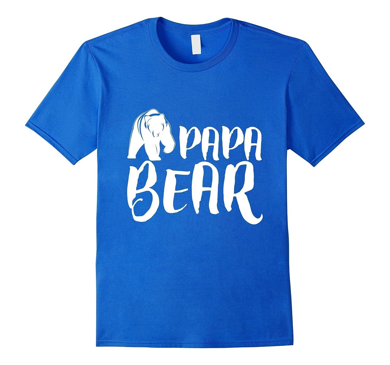 Papa Bear Fathers Day T-Shirt-Vaci
