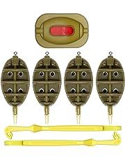 Sams Pesca Inline Flat alimentador de método – Juego de 4 comederos. 15 G,