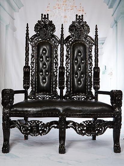 Superb Amazon Com King David High Back Love Seat Gothic Lion Creativecarmelina Interior Chair Design Creativecarmelinacom