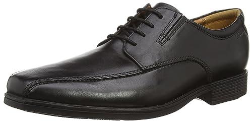 Clarks Tilden Walk, Men's Derby, Black (Black Leather), 6 UK (