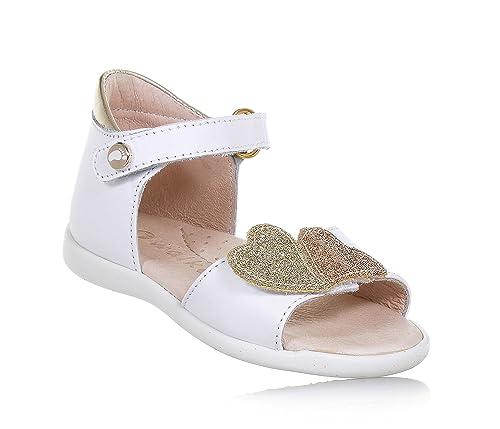 Walkey Sandalo In Dorato PelleCon Strappo Chiusura A Bianco E RL5c4Aq3j
