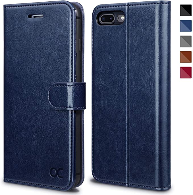Leather Case for iPhone 7 Plus Flip Cover fit for iPhone 7 Plus business gifts with waterproof-case bags