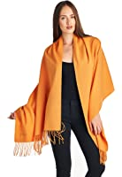 High Style 100% Lambswool Women Oversized Large Scarf Shawl (Various Colors and Designs)