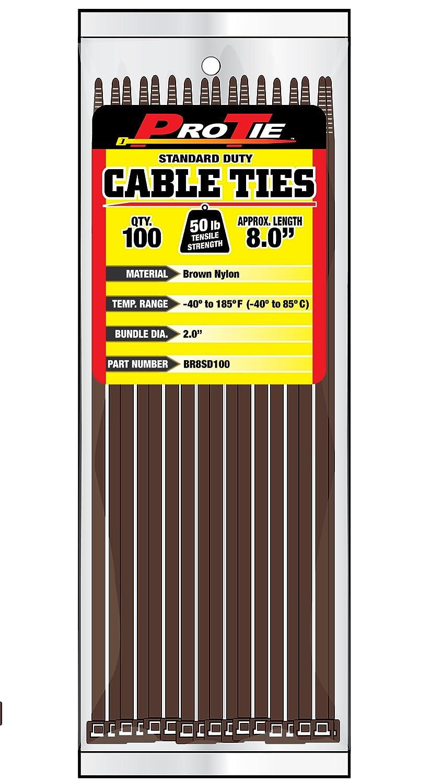 Amazon.com: Pro Tie B8SD100 8-Inch Standard Duty Cable Tie, UV Black ...