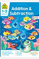 School Zone - Addition & Subtraction Workbook - 64 Pages, Ages 6 to 8, 1st & 2nd Grade Math, Place Value, Regrouping, Fact Tables, and More (School ... Workbook Series) (Deluxe Edition 64-Page) Paperback