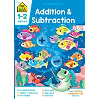 School Zone - Addition & Subtraction Workbook - 64 Pages, Ages 6 to 8, 1st & 2nd...