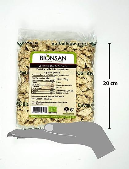 Bionsan Proteína de Soja Texturizada Gruesa   1 Paquete de 200 gr
