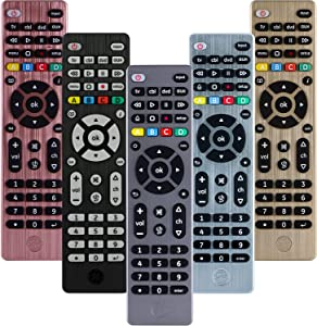 GE Universal Remote Control for Samsung, Vizio, LG, Sony, Sharp, Roku, Apple TV, RCA, Panasonic, Smart TVs, Streaming Players, Blu-ray, DVD, Simple Setup, 4-Device, Graphite, 33711
