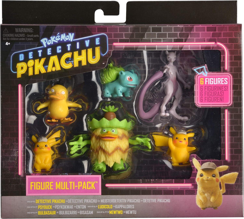 Pokemon Pack de 6 Figuras Detective Pikachu (BIZAK 63227602 ...