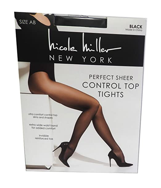 c9749de36f4 Image Unavailable. Image not available for. Color  Nicole Miller Women s Control  Top Perfect Sheer Tights Pantyhose ...