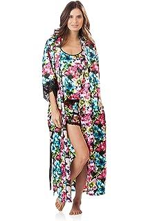 9953e3226d Ashford   Brooks Women s 3 Piece Satin Robe and Pajama Set at Amazon ...