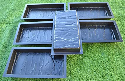 Amazon com : 12PIECE DESIGN CONCRETE MOLDS for PAVING BRICK