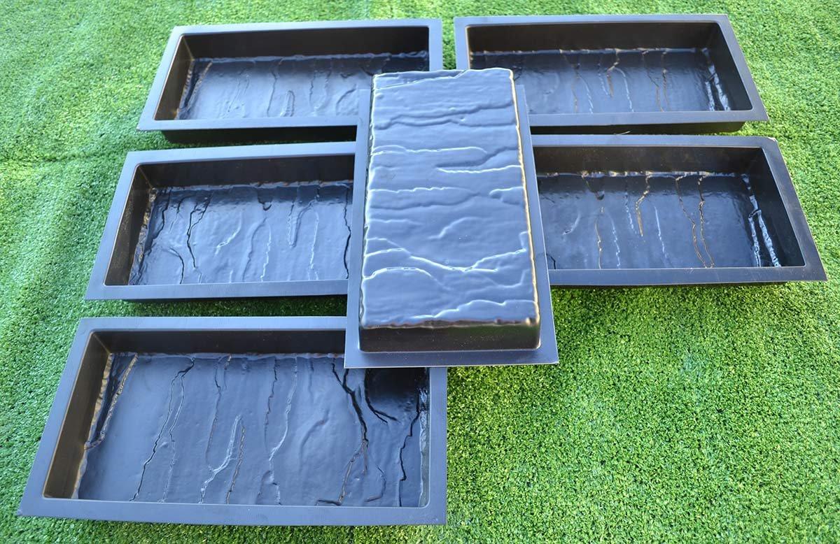 12PIECE DESIGN CONCRETE MOLDS for PAVING BRICK SLAB patio garden path MOULD#S19