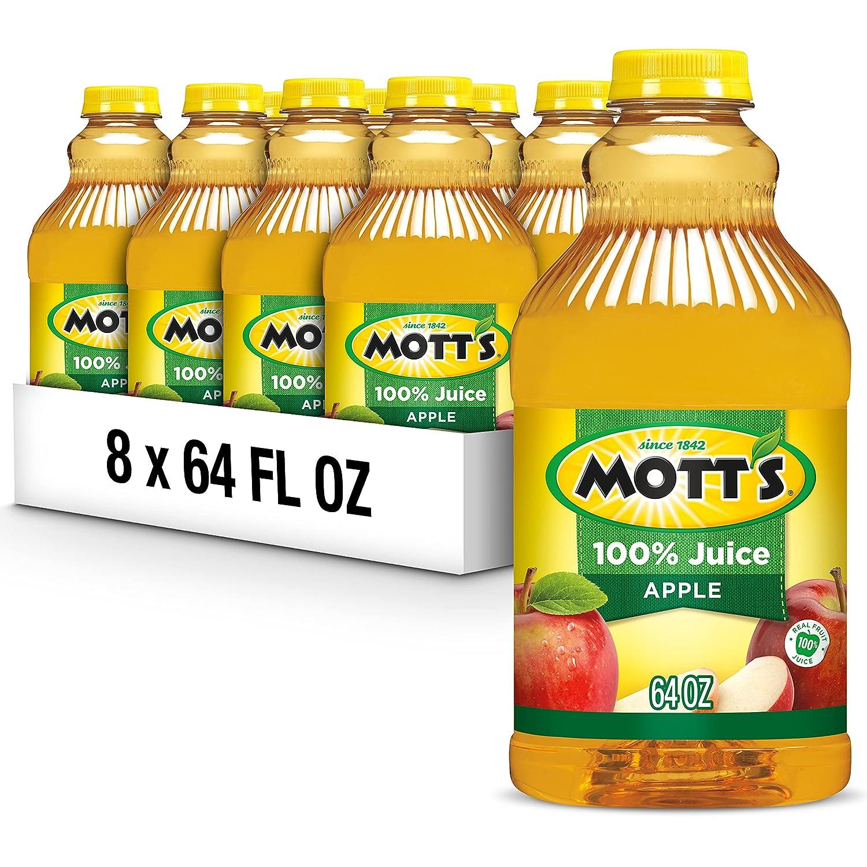 Mott's Natural Apple Juice, 64-Ounce Bottles (Pack of 8)