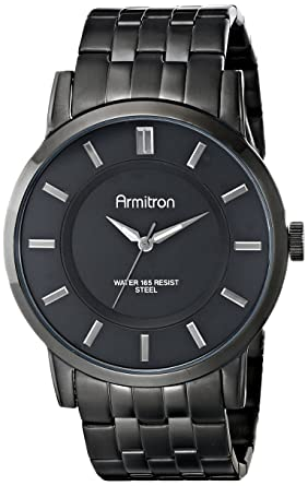 Armitron Mens 20/4962BKTI Black Ion-Plated Bracelet Watch