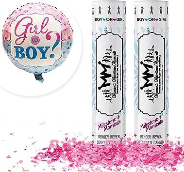 36/'/' Gender Reveal Baby Shower Balloon Pink Blue Confetti Party Decor Aldi