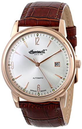 ingersoll men s automatic watch in6802rsl silver dial and ingersoll men s automatic watch in6802rsl silver dial and brown strap