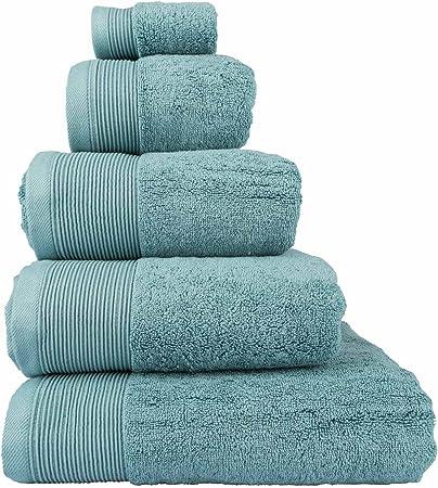 Homescapes - Toalla suave de lujo supremo y absorbente, hecha de algodón egipcio, color azul 700 g/m²., algodón egipcio, azul, Essuie-mains 50 x 90 cm: Amazon.es: Hogar