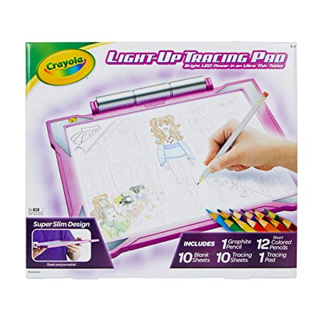 Crayola Light Up Tracing Pad Pink, AMZ Exclusive, At Home Kids Toys, Gift for Girls