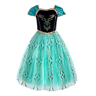 ReliBeauty Girls Princess Costume Dress up, Apple Green: Clothing