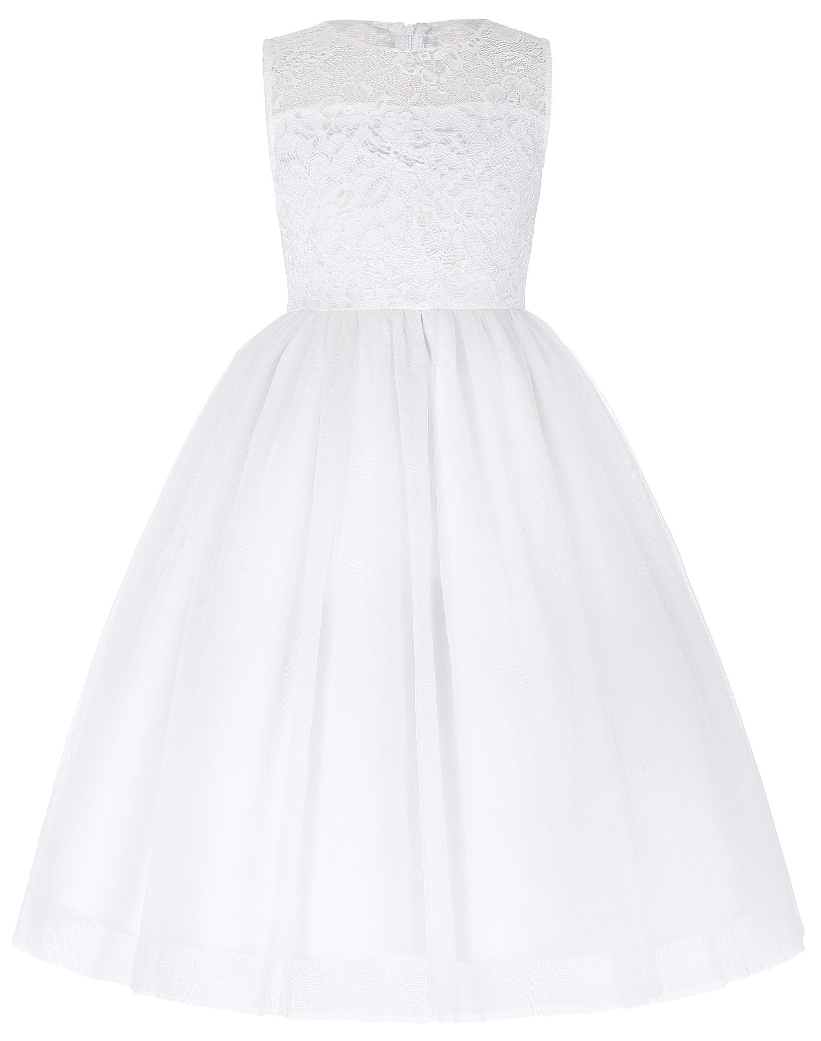 Tulle Flower Girl Party Dresses with Lace (8-9yrs) 8987-1