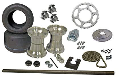 Amazon com: BMI Karts Drift Trike Axle Kit with Tires & Rims (#40