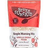 Seven Sundays Simple Morning Vanilla Cherry Muesli Cereal {12 oz. pouch, 1 Count} | Gluten Free Certified | Non GMO | No…